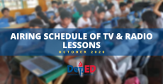 deped-cdo-radio-lessons-airing-schedule