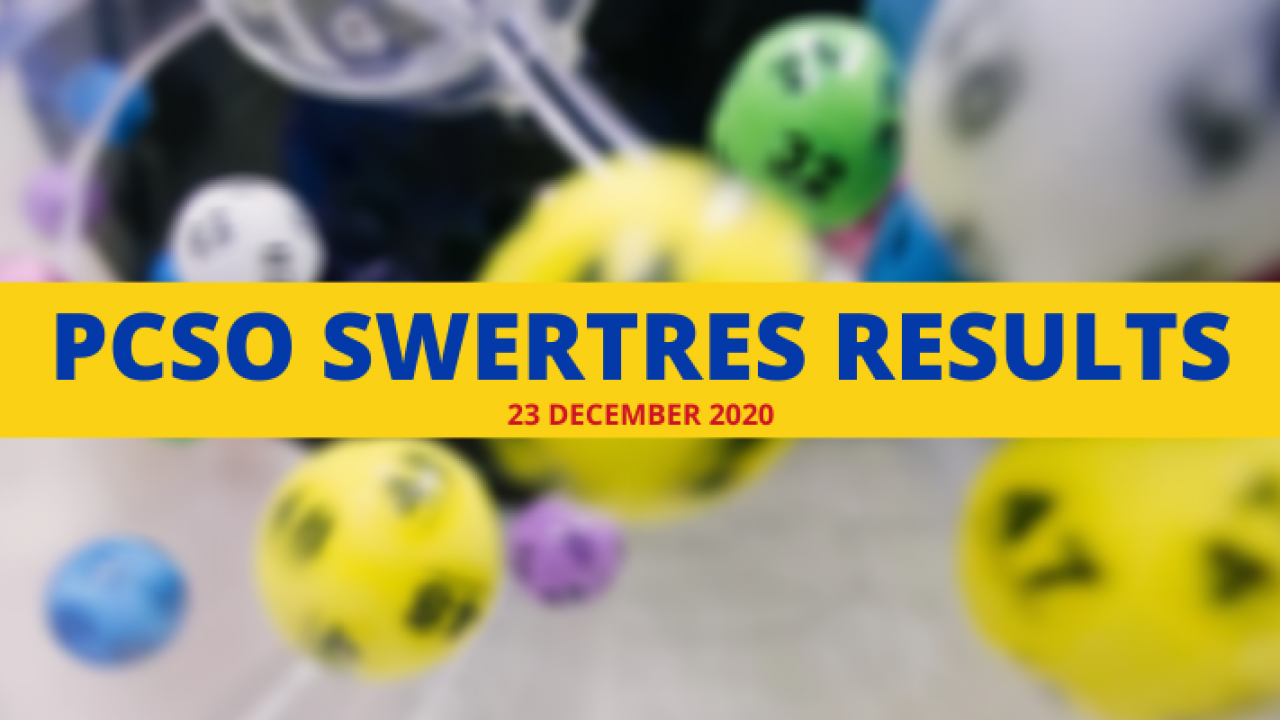 Swertres Result December 23 2020 Wednesday Whatalife